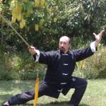 SIFU ALDO IN TAI CHI SWORD POSTURE